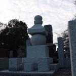 川崎市緑ヶ丘霊園で建墓工事。五輪塔を建てました。