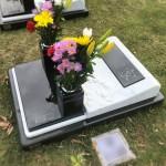 川崎市早野聖地公園 芝生型墓所でお墓の引渡しとご納骨。