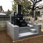 外柵・石塔の建立が終了しました。稲城市の共同墓地