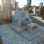 川崎市緑ヶ丘霊園で洋型墓石を建立しました。