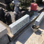 大谷石を使った墓地リフォームを行いました。多摩区内の寺院墓地