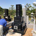 川崎市高津区 緑ヶ丘霊園で新規に石塔・外柵工事を行っています。