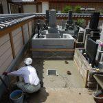 川崎市多摩区 寺院墓地にてお墓のリフォーム工事を行っています。