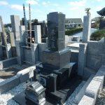 黒系中間色の和型石塔 川崎市麻生区の寺院墓地に建ちあがりました