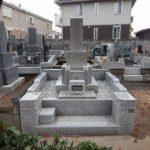 多摩区登戸の寺院墓地でお墓のリフォーム工事を2件