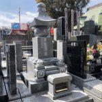多摩区の寺院墓地で五輪塔・墓誌を建立してきました