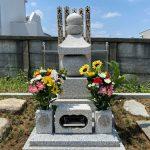 川崎市麻生区の寺院墓地 叩き仕上げの五輪塔が建ちました