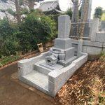川崎市麻生区の寺院墓地 新規のお墓工事を行いました