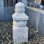 叩き仕上の一石五輪塔を建てました。川崎市麻生区の寺院墓地