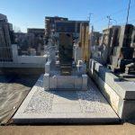 狛江市でお墓(縦洋型石塔・外柵)の建立を行いました
